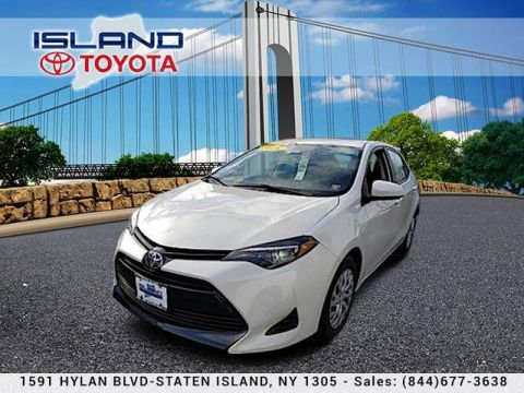 Pre-Owned 2018 Toyota Corolla LE AUTO 1605 HYLAN B 718 979 9595 CERTIFIED Sedan Front Wheel Drive